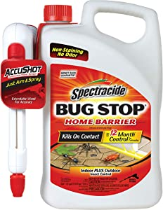Spectracide Bug Stop Home Barrier, AccuShot Sprayer, 1.33-Gallon
