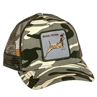 f6d45da001d1f Amazon.com  Goorin Bros Mens Buck Fever Animal Trucker Baseball Cap ( Camouflage)  Clothing