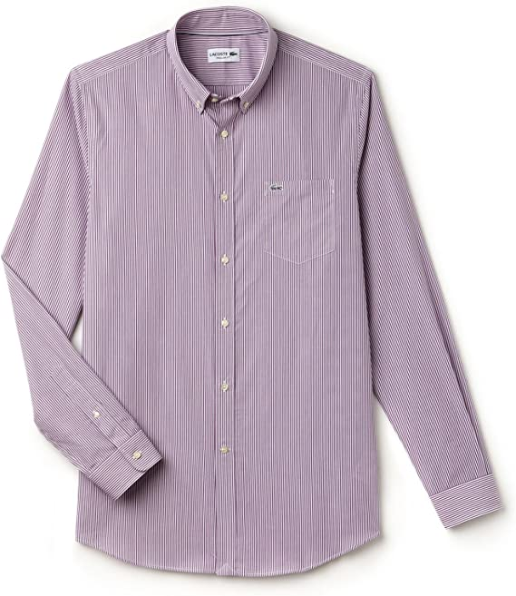 Lacoste Camisa CH3969 XL Granate: Amazon.es: Ropa