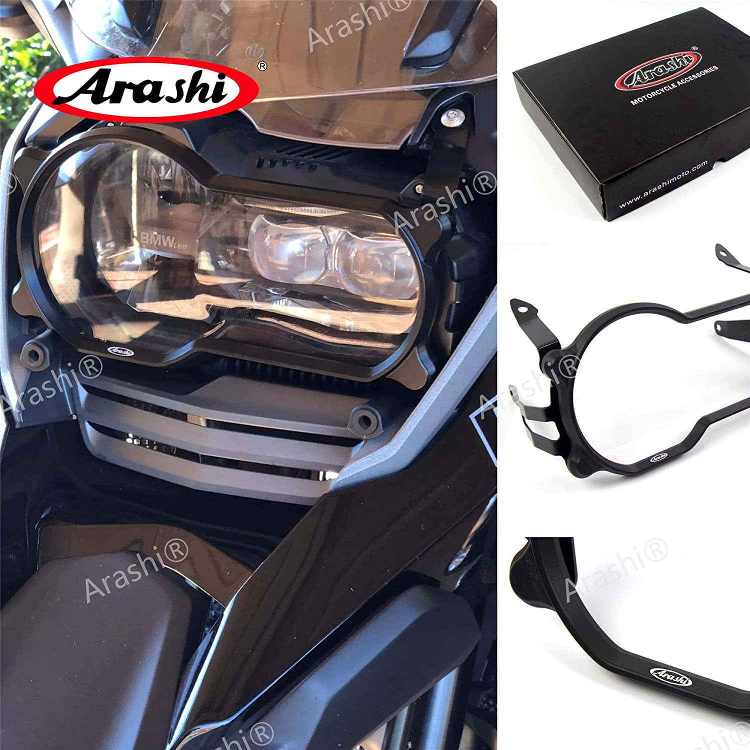 Arashi Headlight Protector Guard Cover for BMW R1200GS 2013-2018 LC 2013-2016 ADV ADVENTURE 2013-2018 Motorcycle Accessories Black