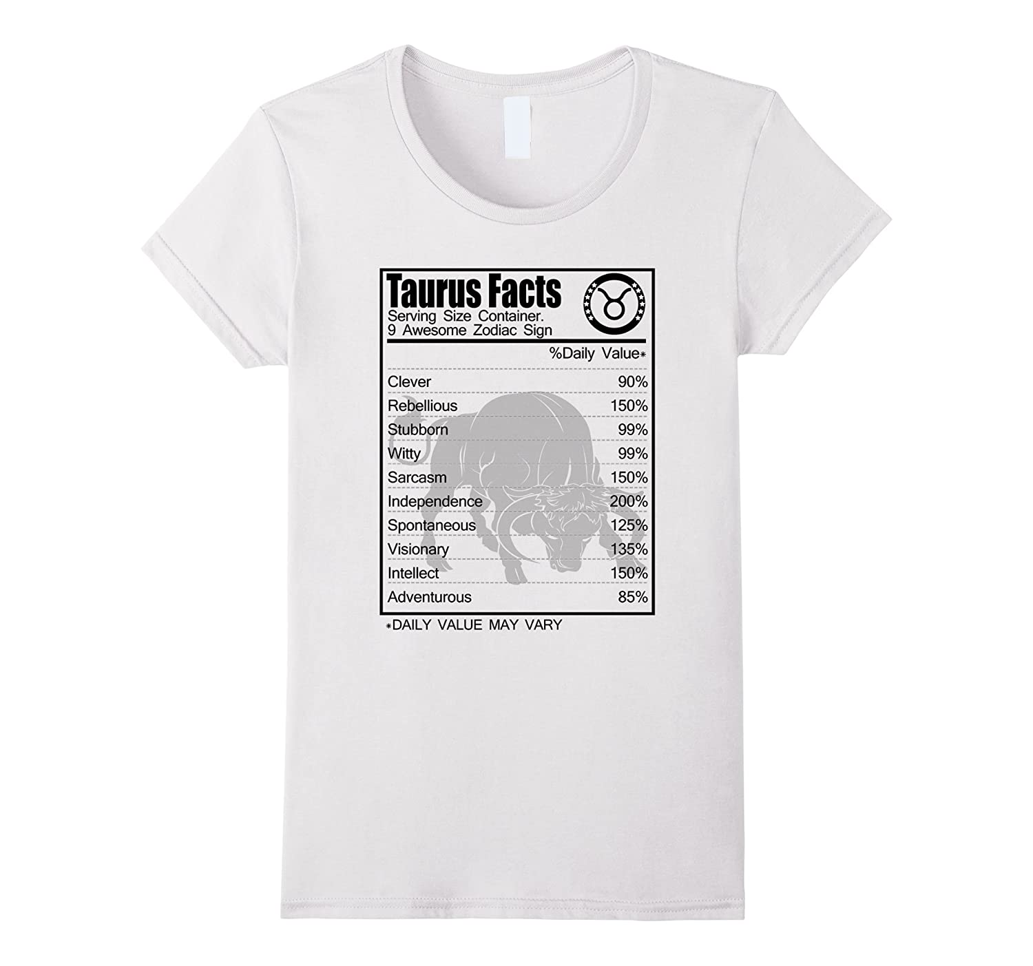 Taurus Facts Awesome Zodiac T-shirt Clever Rebellious-Teevkd