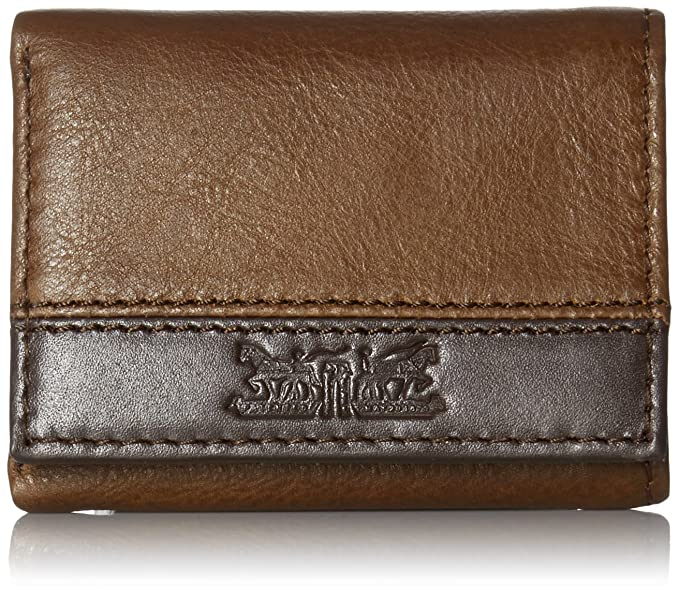 b9aa24cfe Levi's Men's Trifold Wallet - Sleek and Slim Includes ID Window and Credit  Card Holder,