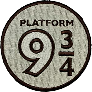 Harry Potter Platform 9 3/4 Patch Train Station Embroidered Iron On Applique