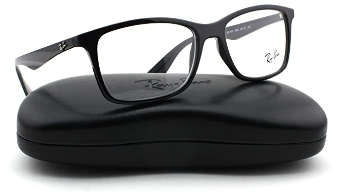 233e671c92 Ray-Ban RX7047 Rectangle Unisex Eyeglasses (Black Frame 2000