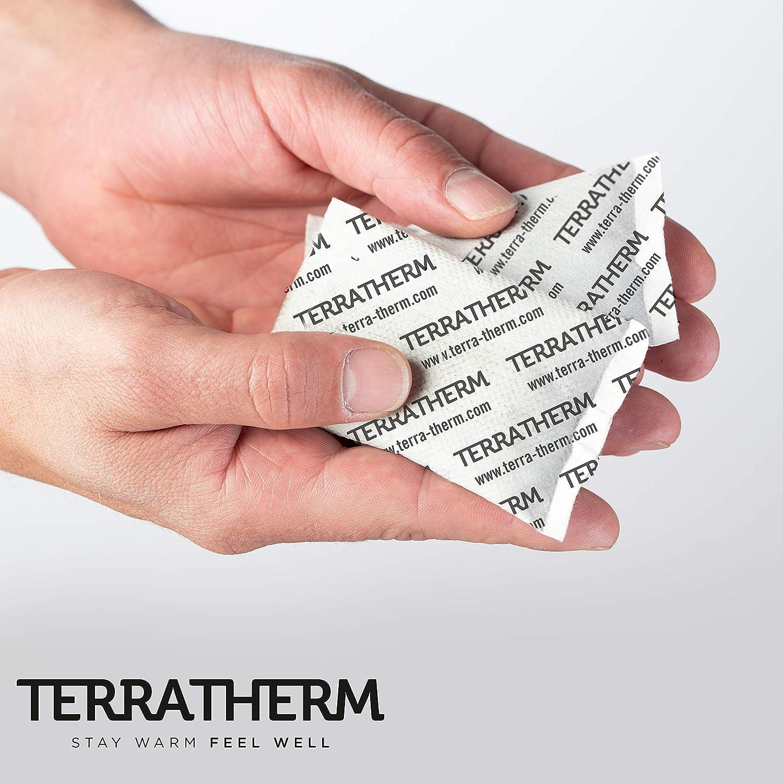 TerraTherm Calentadores de Manos- 30 Pares calienta Manos calienta Bolsillos para 12 Horas de Manos Calientes 100/% Calor Natural Almohadillas t/érmicas activadas por Aire