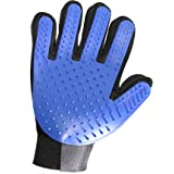Pet Hair Remover Glove - Right Hand Gentle Pet Grooming Mitt for Dogs and Cats by Prime Pet