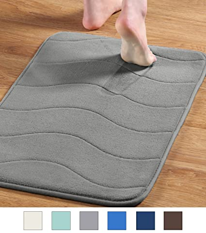 Memory Foam Rugs For Bathroom. Memory Foam Coral Fleece Non Slip Bathroom Mat Thick And Durable Bath Rugs 17w X