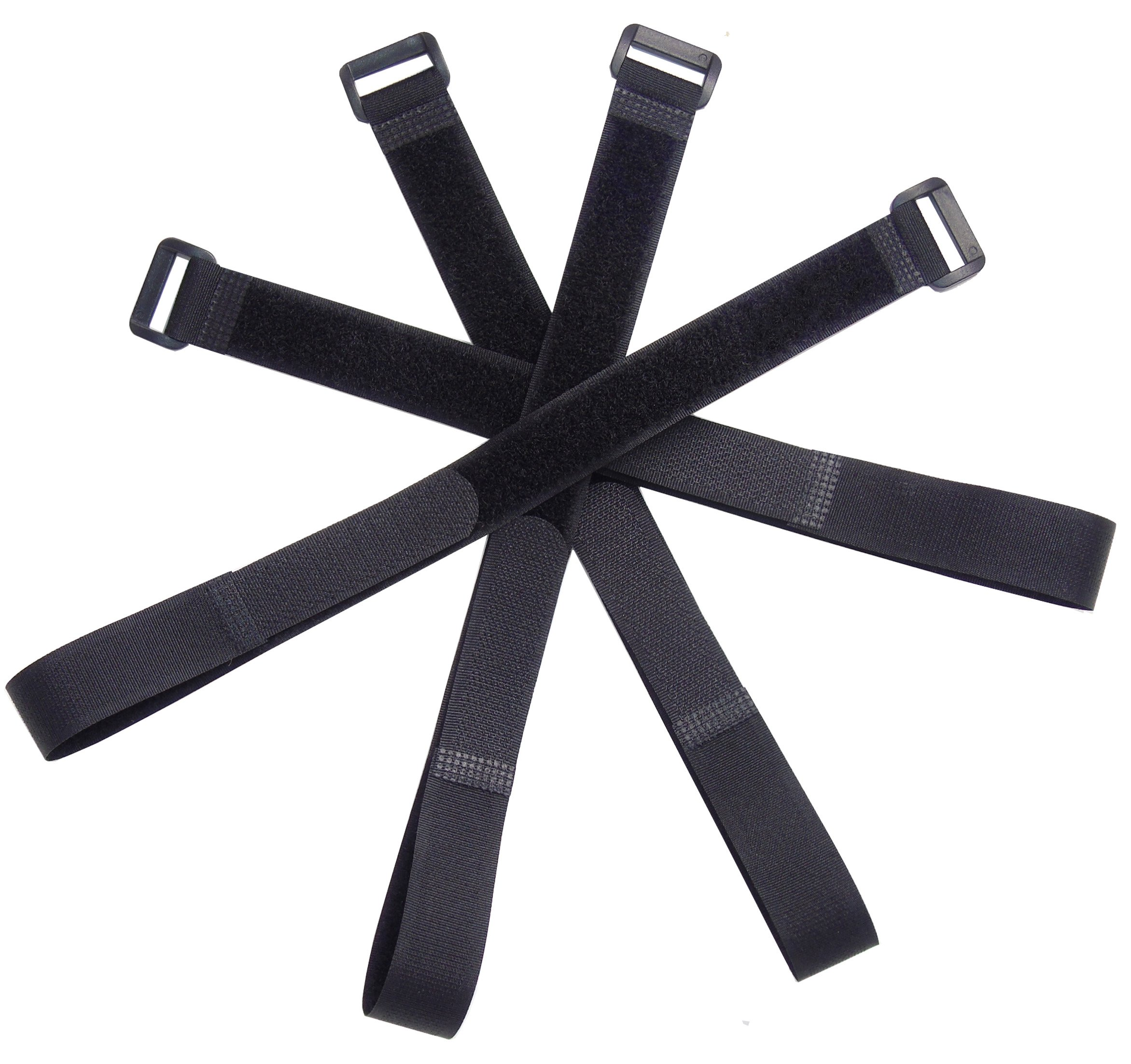 Ceeyali Reusable Hook and Loop Fastening Cable Ties Cable Straps for Home Office Tablet PC TV Electronics Wires Organizer Management (30 Pack 16 inch) by Ceeyali (Image #3)