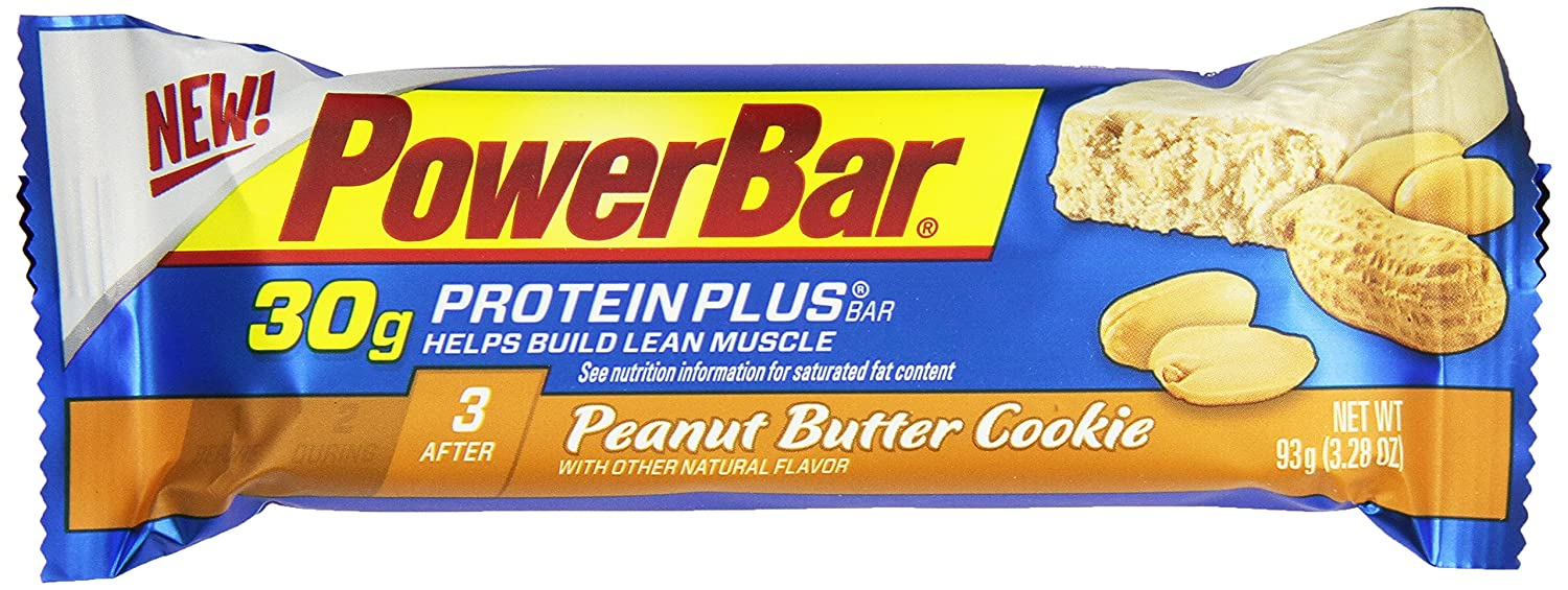 PowerBar Protein Plus Bar, Peanut Butter Cookie, (Pack of 12): Amazon.com: Grocery & Gourmet Food