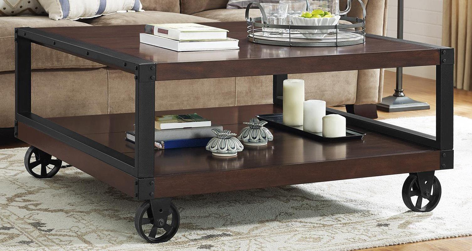 Ameriwood Home 5038096COM Wade, Coffee Table, Mahogany