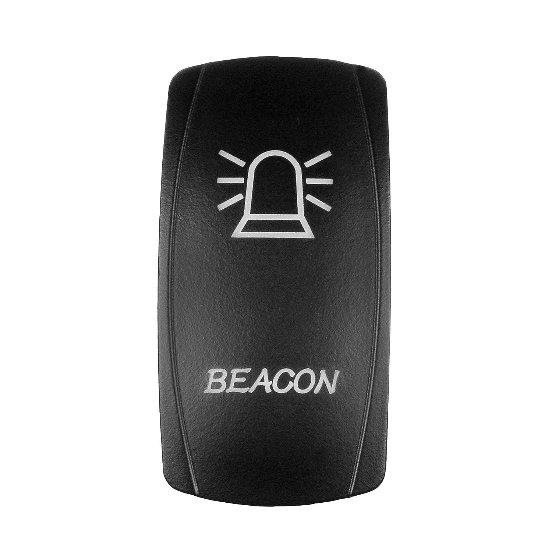 Blue STVMotorsports 5 Pin Automotive Laser Rocker Switch Beacon On//Off LED Light 12V 20A for Signal Warning Strobe