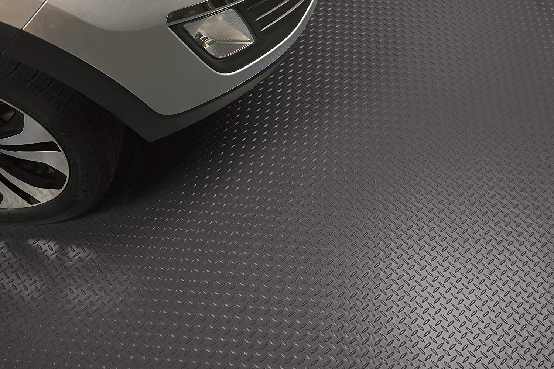 G-Floor Diamond Tread 86x22 Garage Floor Mat in Midnight Black
