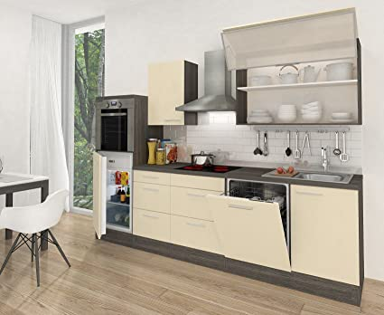 Respekta Premium cucina riga hochbau 280 cm legno di rovere grigio ...