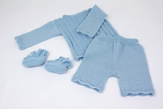 Myoma Baby Strickset Diy Babyensemble Blau Babykleidung Stricken