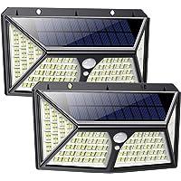Feob Luz Solar Exterior 254 LED【Calidad Precio 2500mAH Placa Solar】Foco solar con PIR Sensor de Movimiento Inalámbrico…