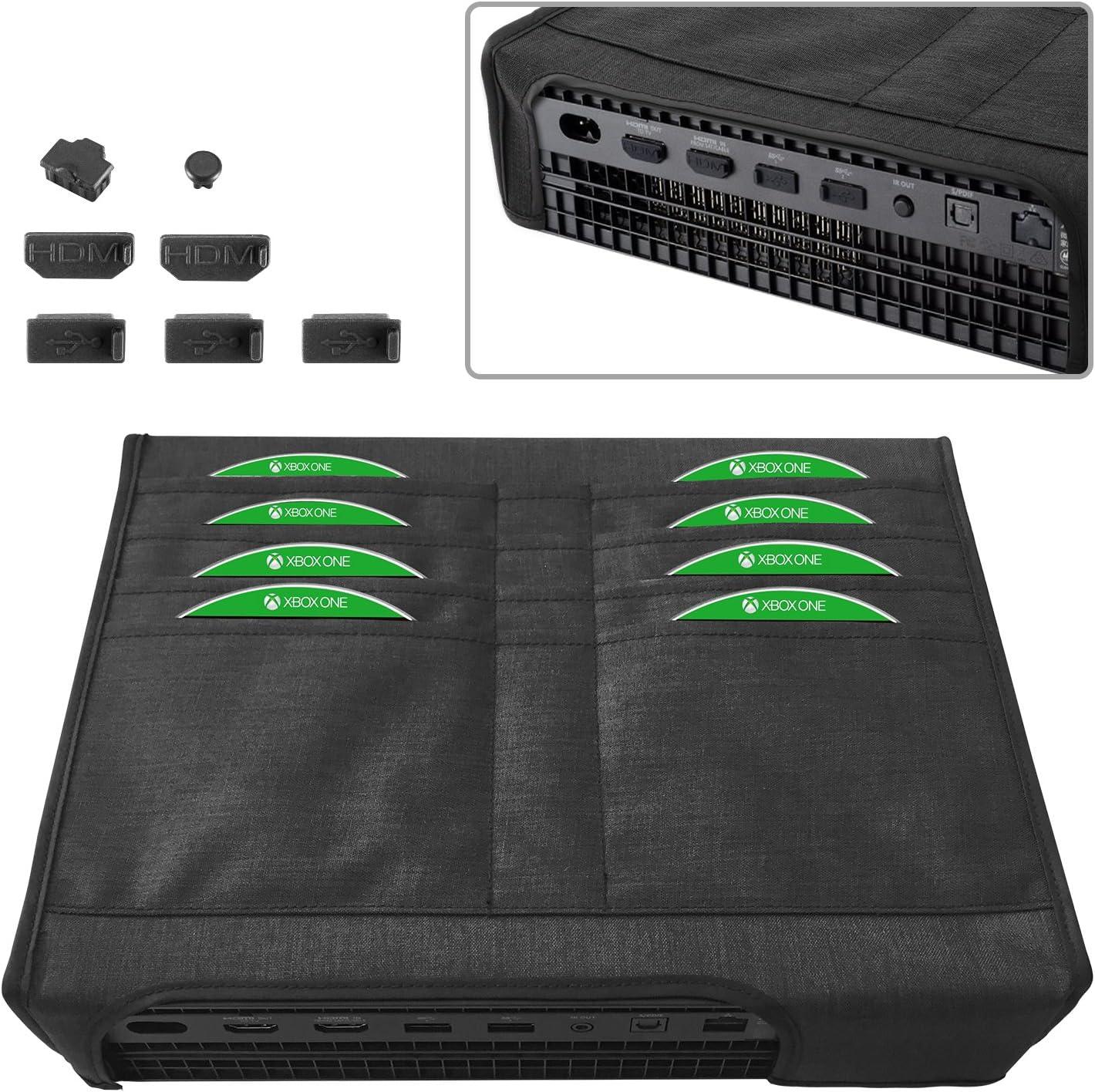 MoKo Funda de Polvo para Xbox One X, 7PCS Tapón de Cubierta de ...