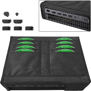 MoKo Funda de Polvo para Xbox One X, 7PCS Tapón de Cubierta de Polvo a de