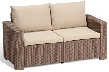 Rattan ecksofa balkon  Amazon.de: Allibert Lounge Sofa, Balkon, Lounge California Sofa ...