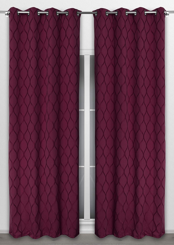 Beige BEAUTEX Vorhang mit /Ösen 135x260 cm Farbe W/ählbar blickdichte Gardine Venezia