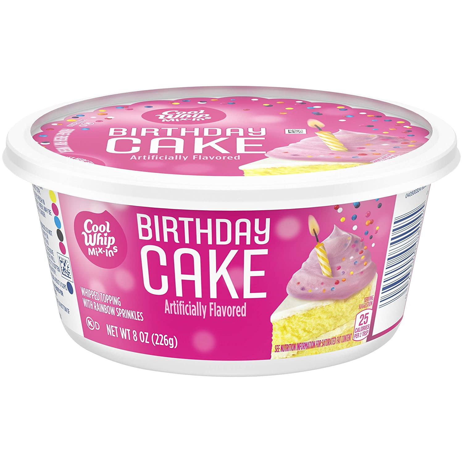 Cool Whip Mix Ins Birthday Cake With Rainbow Sprinkles 8 Oz