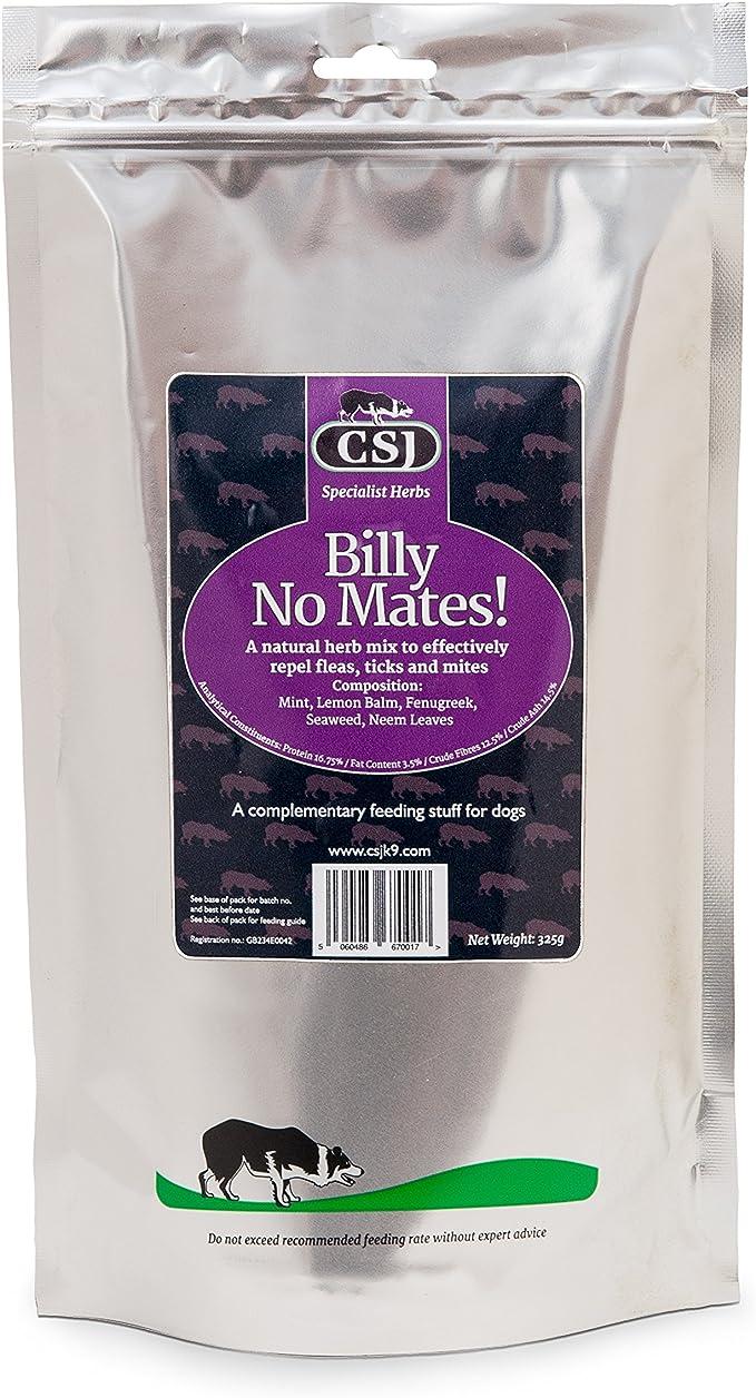 Billy No Mates - Mezcla de hierbas para gatos y perros (325 g)