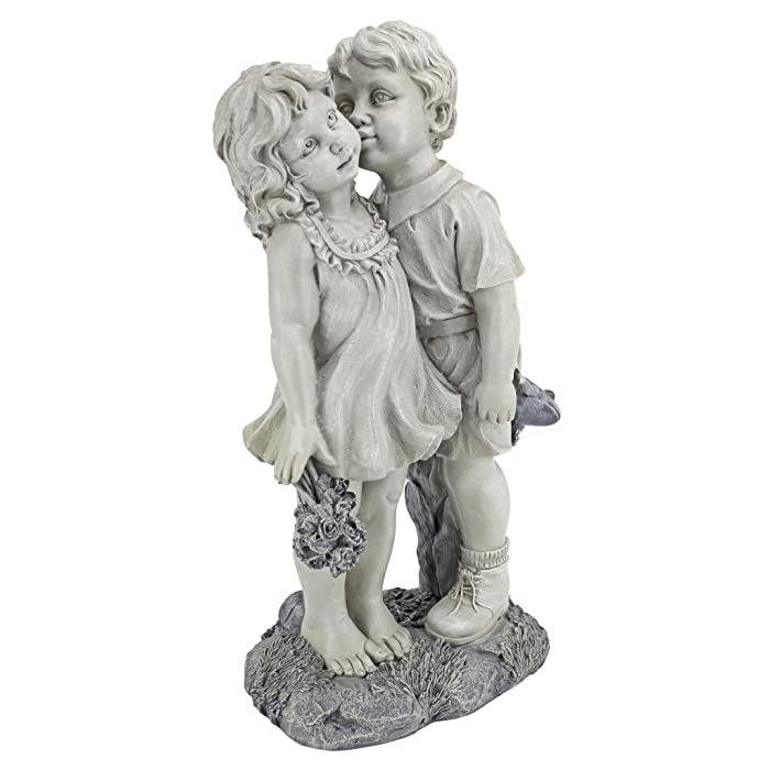 Top 9 Young Sweethearts Kissing Children Garden Statue