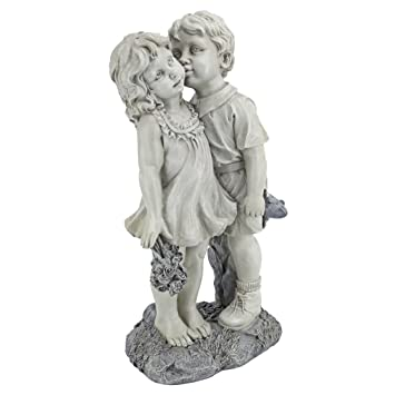 children garden statues. Design Toscano Young Sweethearts Kissing Children Garden Statue Statues R