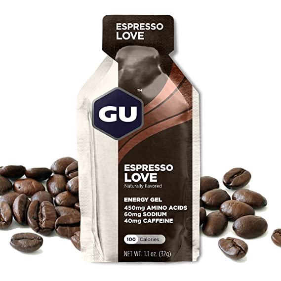GU Energy Gel Energizante de Café Expresso - Paquete de 24 x 32 gr - Total