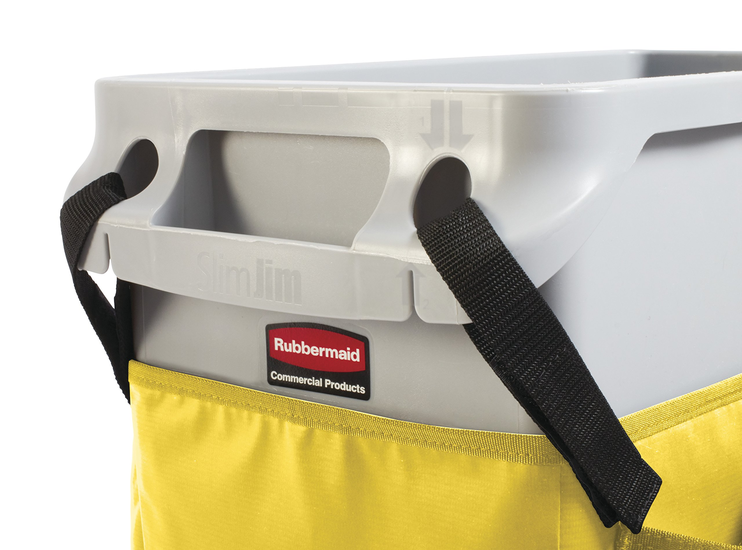 Rubbermaid Commercial Products 2032951 Slim Jim Caddy Bag for 23 gal, Yellow by Rubbermaid Commercial Products (Image #7)