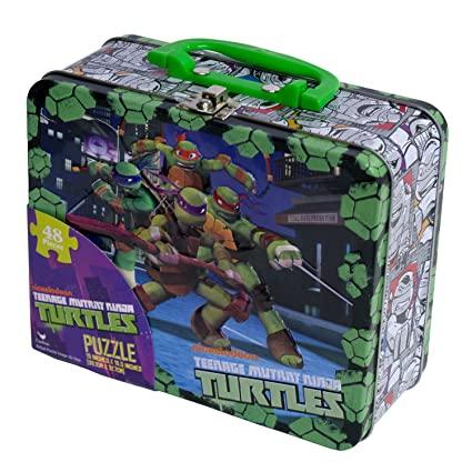 32839093eb Amazon.com: Nickelodeon TMNT Puzzle in a Lunch Box (48-Piece): Toys & Games