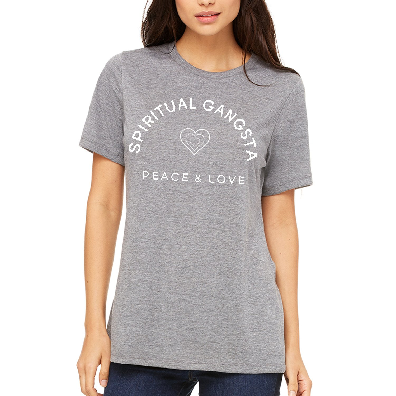 75189d78 4.2 oz. Heathers are 90% Combed Ring Spun Cotton and 10% Ring Spun Poly  Classic Fashion Forward Relaxed Boyfriend Tee Fit & Cut For Comfort and  Style