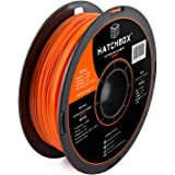 HATCHBOX PETG 3D Printer Filament, Dimensional Accuracy +/- 0.03 mm, 1 kg Spool, 1.75 mm, Orange