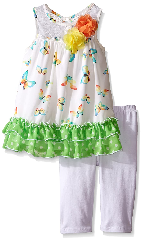 744b5479a17 Amazon.com  Bonnie Jean Girls  Butterfly Printed Knit Playwear Set  Clothing