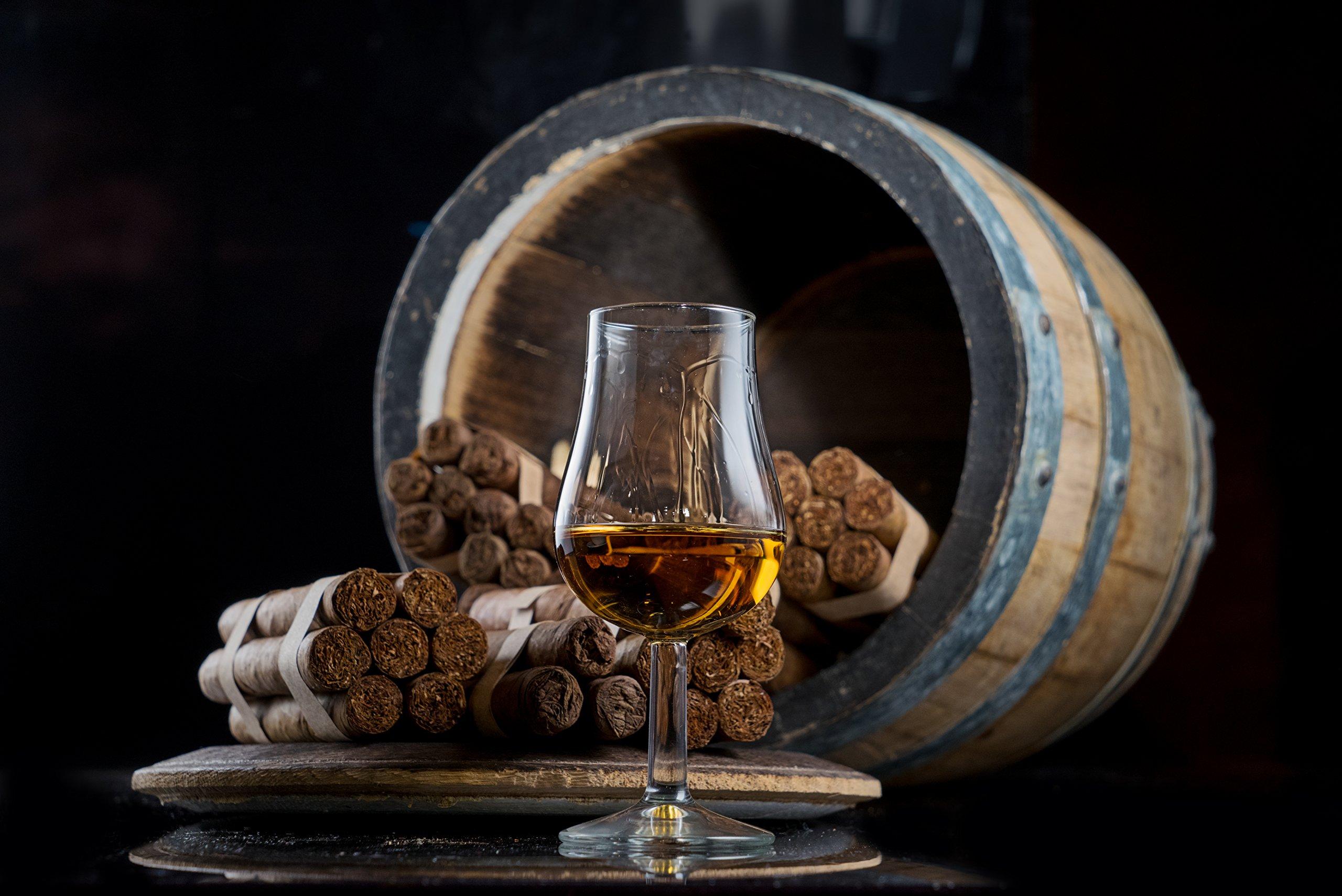 Stemmed Nosing Copita Whiskey Tasting Glass - 6oz Snifter (2)