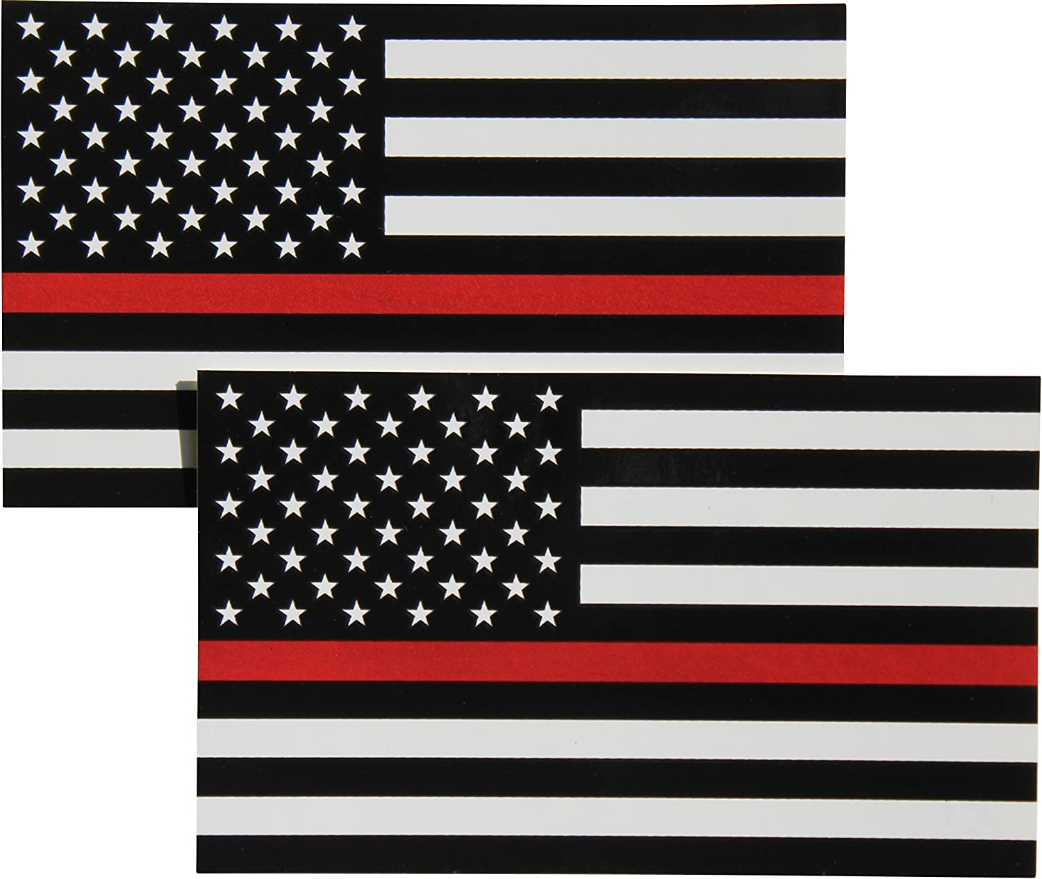 Distressed USA Flag vinyl sticker decal Military retired We Do Our Part 2PK