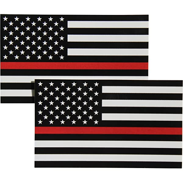 The Thin Red Line Texas Metal Auto Emblem with Thin red line Support Firefighters and EMTs