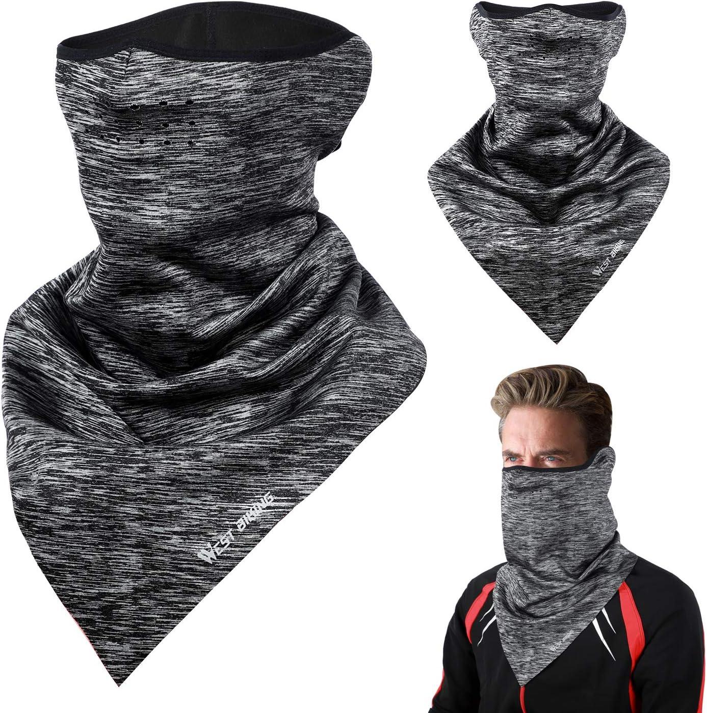 LuTuo Winter-halbe Gesichtsmaske Halsw/ärmer halbe Sturmhaube,Radfahren Halstuch,Skifahren-Dreieck-Halstuch,Warm halten,Reflektierendes Logo Design,Unisex Schleier