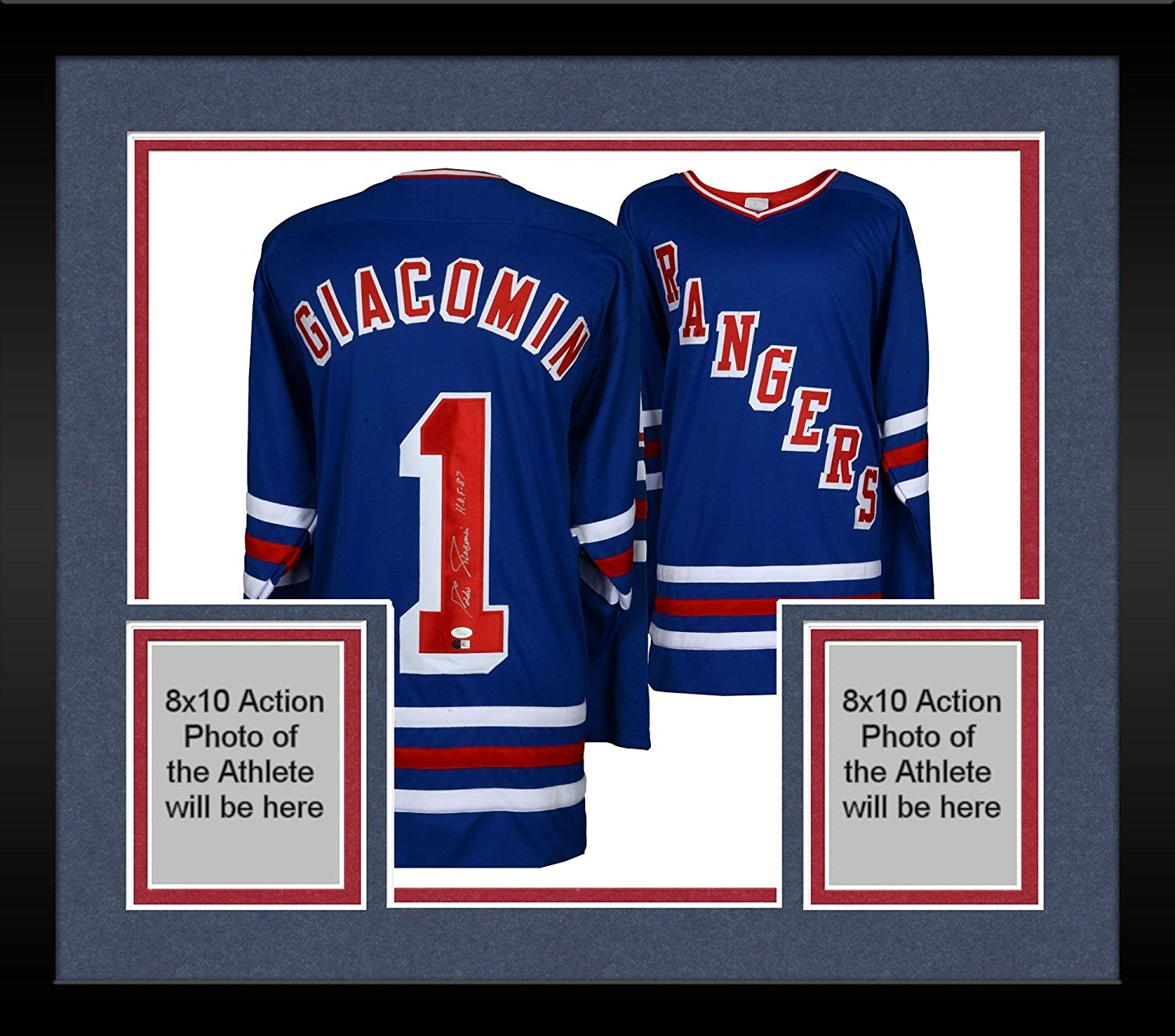 newest collection 0e9db 84581 Framed Eddie Giacomin New York Rangers Autographed Blur ...