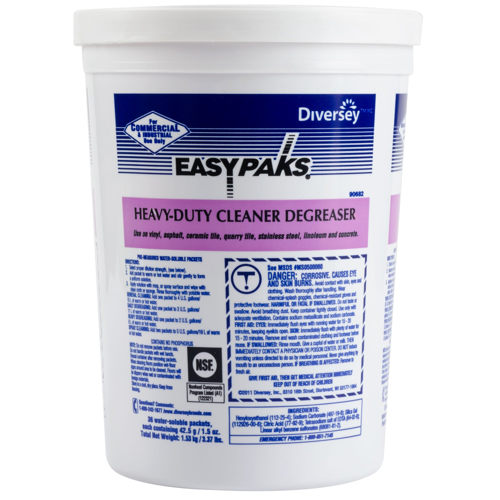 Easy Paks Heavy Duty Cleaner / Degreaser Packet (1.5-Ounce, 72 per Case)