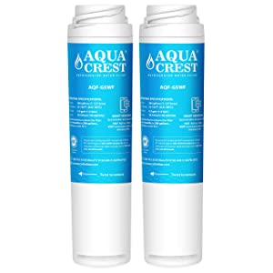 AQUACREST Replacement GSWF Refrigerator Water Filter, Compatible with GE GSWF SmartWater 238C2334P001, Kenmore 46-9914, 469914, 9914 (Pack of 2)