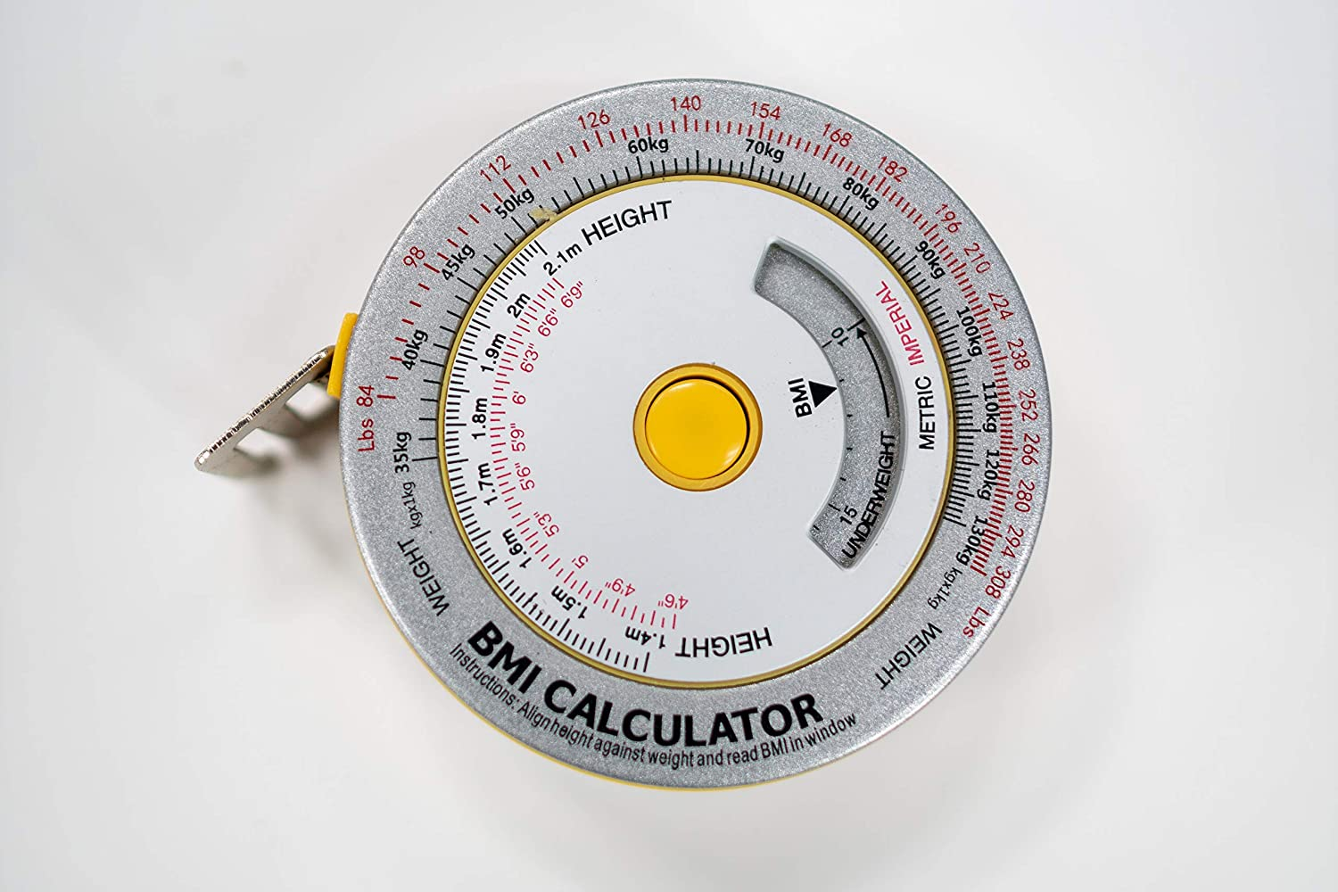 AnthroFlex BMI Tape Measure Calculator Metric and Imperial