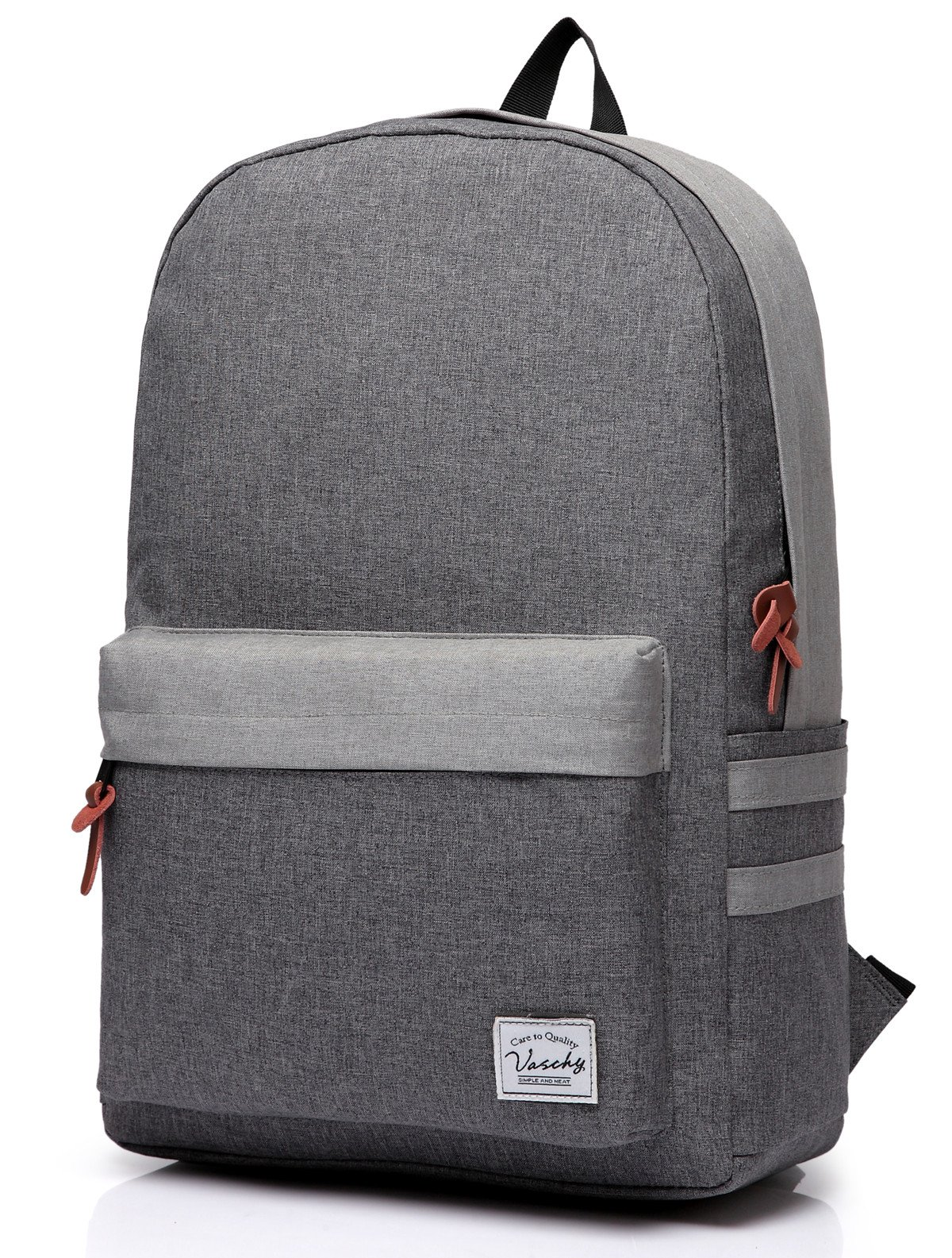 Laptop Backpack, Water Resistant High School Backpack in Gray by Vaschy fits up to 15 Inch Laptop by VASCHY