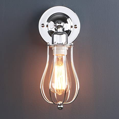 phansthy vintage style industrial wall light fixture edison wire rh amazon com Light Fixtures Incandescent Watts CFL Light Fixtures