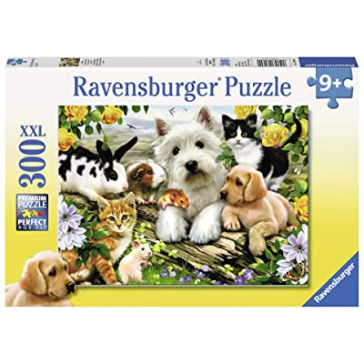 Ravensburger Happy Animal Buddies - 300 Piece Jigsaw Puzzle for Kids – Every Piece is Unique, Pieces Fit Together Perfectly: Toys & Games