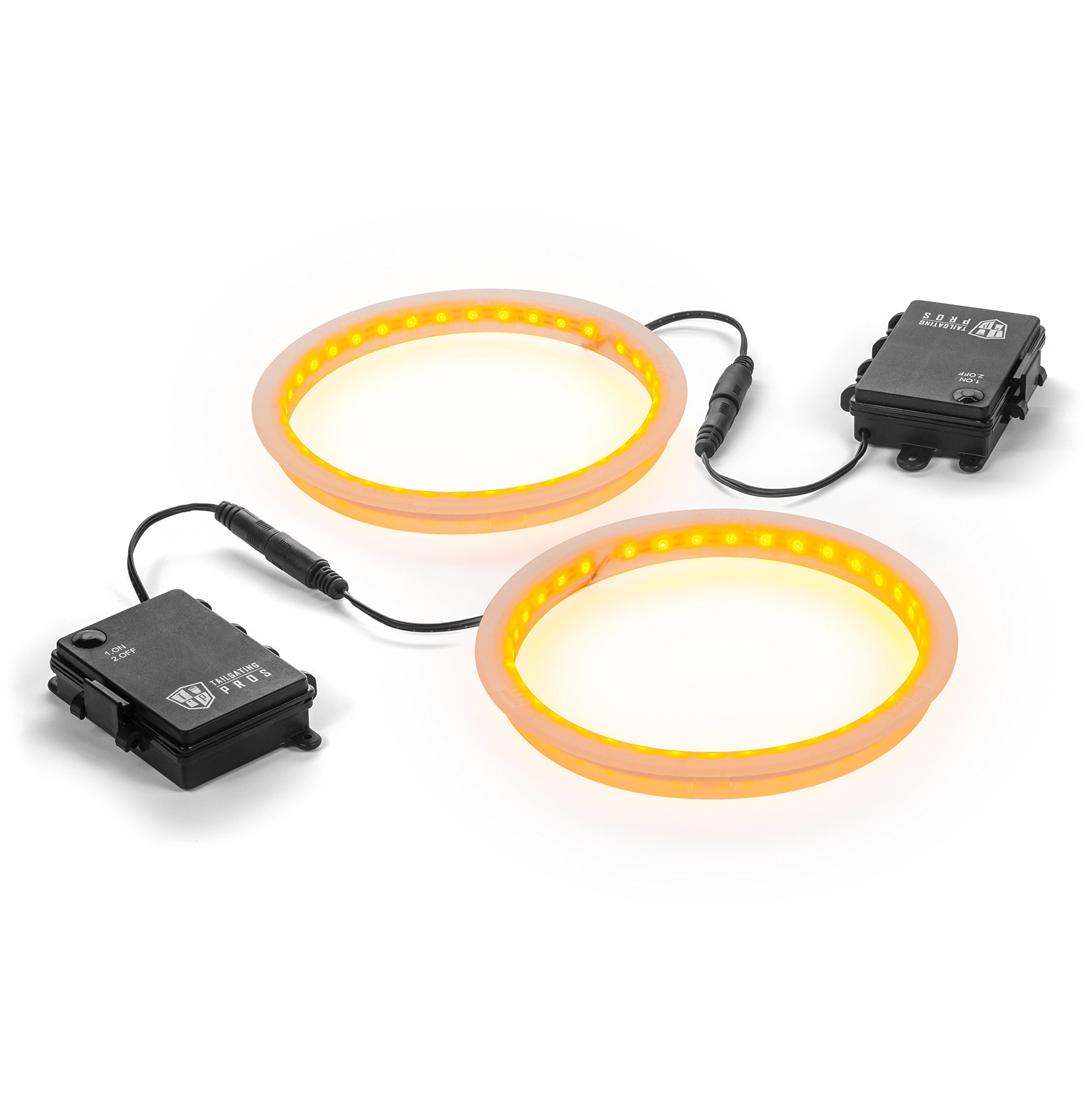 Tailgating Pros Premium 36 LED Cornhole Light Ring Set - 6 Color Options + Multicolored (Amber)