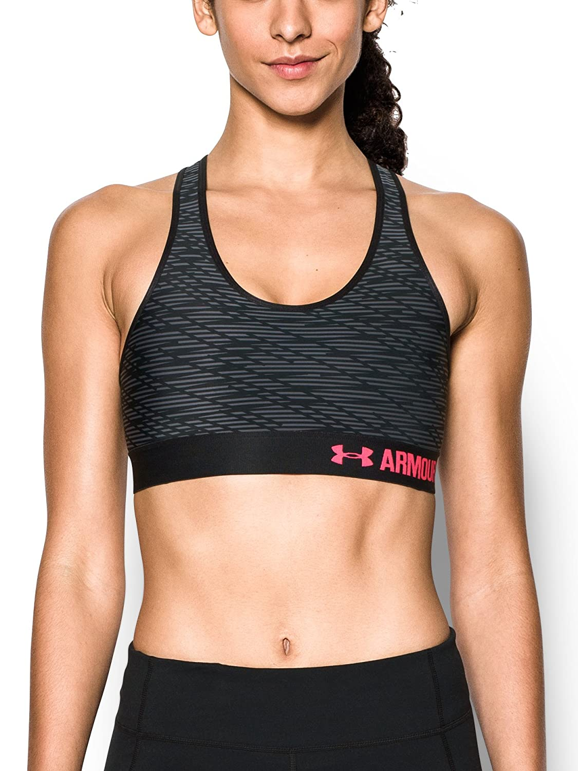 Under Armour Sujetador Deportivo Medio, Estampado, para Mujeres