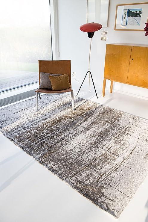 Louis de Poortere Griff Alfombra, algodón, Gris, 280cm x 360cm ...
