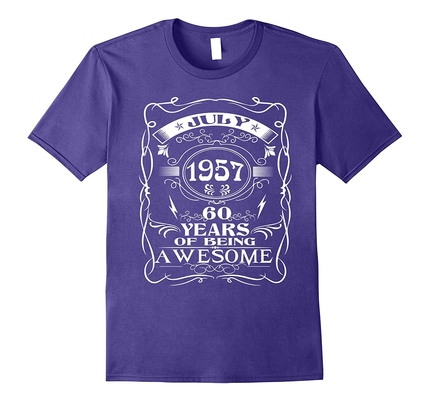 60th birthday - July 60 year of being awesome Shirt-CD
