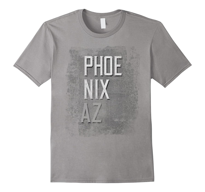 Phoenix Arizona AZ Distressed City Grunge Grey T-Shirt Tee