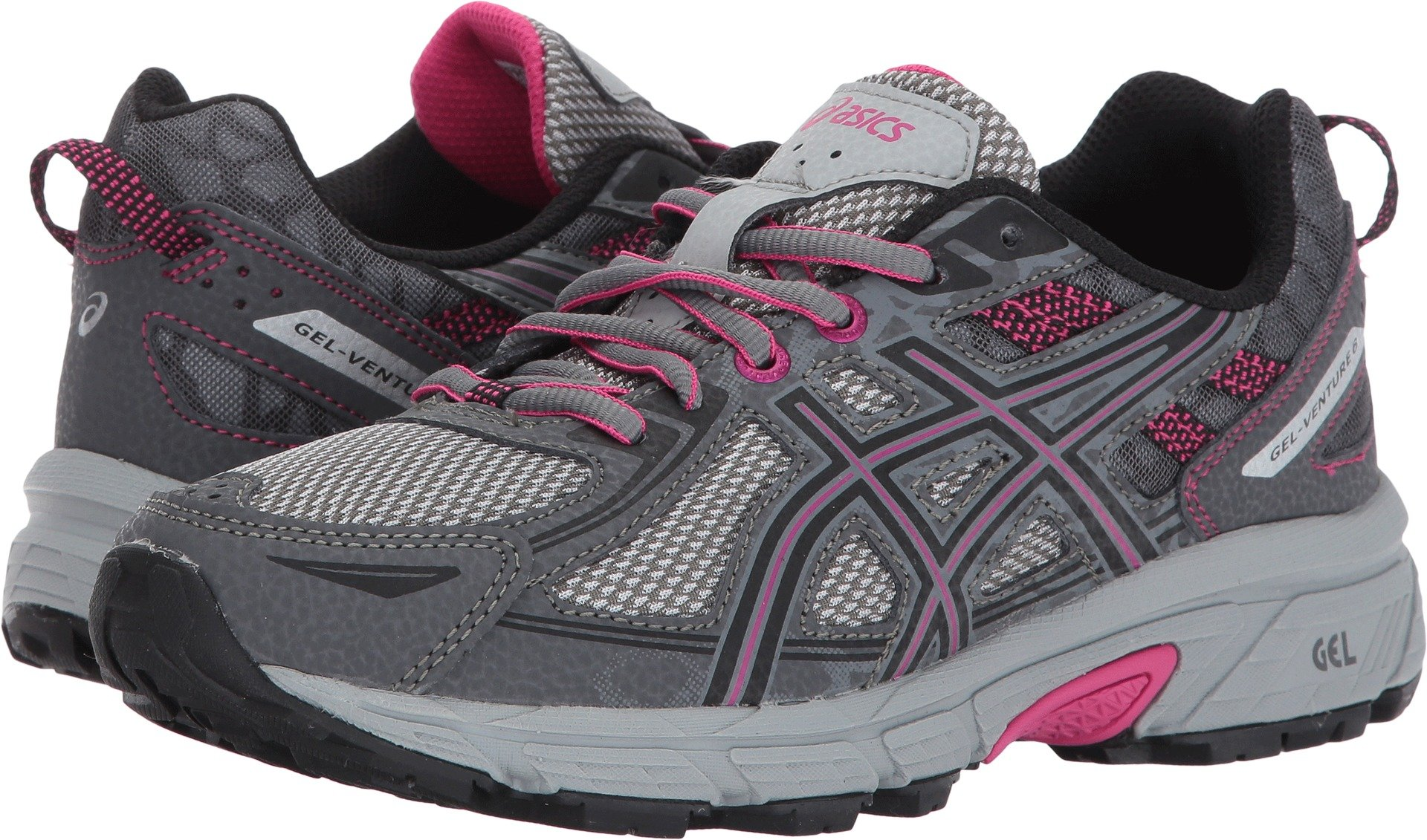 ASICS Women's Gel-Venture 6 Running-Shoes,Carbon/Black/Pink Peacock,5 D US by ASICS (Image #1)